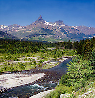 Clarks Fork River, Pilot Peak, Index Peak, Absaroka Beartooth Mountains, Cody WY