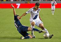 CARSON, CA - September 1, 2012: LA Galaxy midfielder Jose Villarreal (33) during the LA Galaxy vs the Vancouver Whitecaps FC at the Home Depot Center in Carson, California. Final score LA Galaxy 2, Vancouver Whitecaps FC 0.