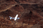 Africa, Namibia, Damaraland. Flying over the landscape of Damaraland in Namibia.