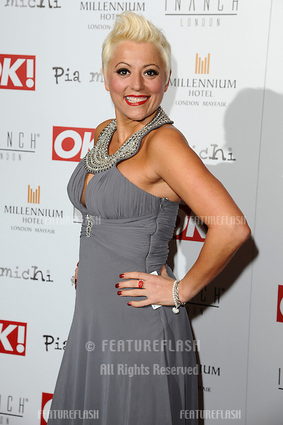 Caroline Monk arriving for the Pia Michi Prom wear fashion show at the Millenium Hotel, London. 15/02/2012 Picture by: Steve Vas / Featureflash