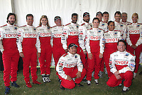 Pro/Celeb race drivers at  the 33rd Annual Toyota Pro/Celeb Race Press Day at the Grand Prix track in Long Beach, CA on April 7, 2009.©2009 Kathy Hutchins / Hutchins Photo....                .