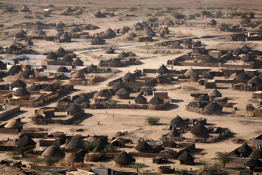 Desert homes near the town of Kassala, Sudan, on Friday, April 16, 2007.