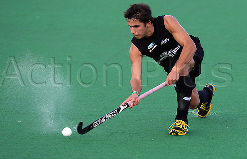 18.05.2013. Auckland, New Zealand.  George Muir during the 3rd Hockey test match. New Zealand Men's Blacks Sticks v Korea. Saturday 18 May 2013. Pukekohe, Auckland.