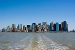 New York City, New York: Skyline of New York lower manhattan post 9-11.  .Photo #: ny215-14625.Photo copyright Lee Foster, www.fostertravel.com, lee@fostertravel.com, 510-549-2202.