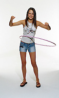 Girl using hoola-hoop