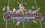 07 JAN 2012: Sam Houston State University runs a play against North Dakota State University during the Division I Men's FCS Football Championship held at Pizza Hut Park in Frisco, TX. North Dakota State beat Sam Houston State 17-6. Tom Pennington/ NCAA Photos