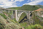 Bixby Bridge, View from Highway One, Big Sur Area, California, USA