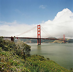Fort Point at the North end of the Prisidio offers stunning views of the Golden Gate Bridge and the surrounding landscape