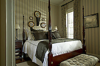 Classic black and white guest bedroom