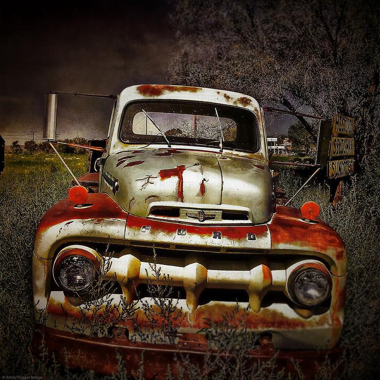 Retro vintage automobile truck