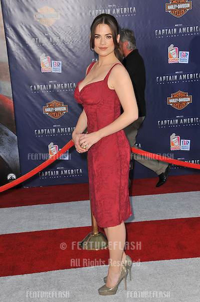 "British actress Hayley Atwell at the premiere of her new movie ""Captain America: The First Avenger"" at the El Capitan Theatre, Hollywood..July 19, 2011  Los Angeles, CA.Picture: Paul Smith / Featureflash"