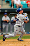 11 March 2006: Andy LaRoche, infielder for the Los Angeles Dodgers, at bat during a Spring Training game against the Washington Nationals. The Nationals defeated the Dodgers 2-1 in 10 innings at Space Coast Stadium, in Viera, Florida...Mandatory Photo Credit: Ed Wolfstein.