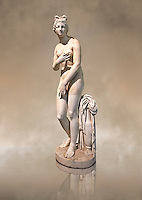 2nd century AD Roman marble sculpture of Aphrodite (Venus), 'Dresden Capitoline Type, copied from a Hellanistic Greek original,  inv 6283 - Farnese Collection, Naples Museum of Archaeology, Italy