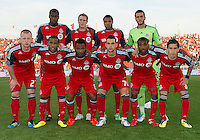 27 August 2011:The Toronto FC starting eleven during a game between the San Jose Earthquakes and Toronto FC at BMO Field in Toronto..The game ended in a 1-1 draw.