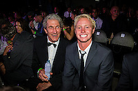 SURFERS PARADISE, Queensland/Australia (Friday, March 1, 2013) Nat Young (AUS) and Nat Young (USA). - The world's best surfers congregated last night at the QT Hotel in Surfers Paradise to celebrate the 2013 ASP World Surfing Awards, officially crowning last year's ASP World Champions and welcoming in the new year..Joel Parkinson (AUS), 31, long considered to be a threat to the ASP World Title ever since his inception amongst the world's elite over a decade ago, was awarded his maiden crown last night. Amidst a capacity crowd of the world's best surfers and hometown supporters, the Gold Coast stalwart brought the house down with a heartfelt and emotional speech..?It's beautiful to have everyone here tonight,? Parkinson said. ?We all come together and really celebrate last season amongst our friends and family. The new year, for me, begins tomorrow. Tonight, I just feel so fortunate to be up here and to be supported by my beautiful family. I love them and am only here because of them.?.FULL LIST OF AWARDS' RECIPIENTS:.2012 ASP World Champion: Joel Parkinson (AUS).2012 ASP World Runner-Up: Kelly Slater (USA).2012 ASP Rookie of the Year: John John Florence (HAW).2012 ASP Women's World Champion: Stephanie Gilmore (AUS).2012 ASP Women's World Runner-up: Sally Fitzgibbons (AUS).2012 ASP Women's Rookie of the Year: Malia Manuel (HAW).2012 ASP Breakthrough Performer: Sebastian Zietz (HAW).2012 ASP Women's Breakthrough Performer: Lakey Peterson (USA).2012 ASP World Longboard Champion: Taylor Jensen (USA).2012 ASP Women's World Longboard Champion: Kelia Moniz (HAW).2012 ASP World Junior Champion: Jack Freestone (AUS).2012 ASP Women's World Junior Champion: Nikki Van Dijk (AUS).ASP Life Member/Chairman Emeritus: Richard Grellman.ASP Service to the Sport: Randy Rarick.Peter Whittaker Award: Adrian Buchan.2012 ASP Men's Heat of the Year (Fan Vote): Mick Fanning (AUS) vs. Kelly Slater (USA) - Rip Curl Pro Bells Beach.2012 ASP Women's Heat of the Year (Fan Vote): Laura Enever (AUS