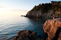 Coastline near Talamone, in the Maremma district of Tuscany, Italy