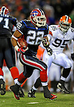 17 November 2008: Buffalo Bills' running back Fred Jackson runs for yardage against the Cleveland Browns at Ralph Wilson Stadium in Orchard Park, NY. The Browns defeated the Bills 29-27 in the Monday Night AFC matchup. *** Editorial Sales Only ****..Mandatory Photo Credit: Ed Wolfstein Photo