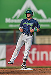 12 July 2015: Vermont Lake Monsters outfielder Ryan Howell in action against the West Virginia Black Bears at Centennial Field in Burlington, Vermont. The Lake Monsters came back from a 4-0 deficit to defeat the Black Bears 5-4 in NY Penn League action. Mandatory Credit: Ed Wolfstein Photo *** RAW Image File Available ****