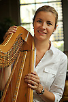 Valerie Muzzolini, harpist for Seattle Opera and Seattle Symphony.