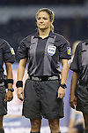 16 October 2014: Referee Carol-Anne Chenard (CAN). The Mexico Women's National Team played the Costa Rica Women's National Team at Sporting Park in Kansas City, Kansas in a 2014 CONCACAF Women's Championship Group B game, which serves as a qualifying tournament for the 2015 FIFA Women's World Cup in Canada. Costa Rica won the game 1-0.