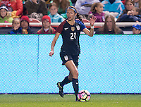 Sandy, UT- October 19, 2016: The USWNT defeated Switzerland 4-0 during an international friendly at Rio Tinto Stadium.