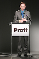 Hamish Bowles, European Editor at Large for Vogue, won the 2011 Pratt Institute Fashion Icon award, before the Pratt 2011 fashion show, April 27 2011.