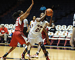 "Ole Miss' Danielle McCray (21) vs. Arkansas' Ashley Daniels (12) at the C.M. ""Tad"" Smith Coliseum in Oxford, Miss. on Thursday, January 12, 2012."