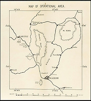 BNPS.co.uk (01202 558833)<br /> Pic: ForumAuctions/BNPS<br /> <br /> Operational area of the Mau Mau.<br /> <br /> Top Secret - Britsh Army book on how to beat the Mau Mau.<br /> <br /> A fascinating handbook given to British commanders serving in colonial Kenya containing controversial instructions on how to deal with dissident tribesmen has surfaced 60-years later. <br /> <br /> The confidential 167-page document encloses operational advice on how to overcome the Mau Mau Uprising, which saw natives revolt against European settlers. <br /> <br /> Written in 1954 and handed only to platoon commanders, who were in unfamiliar surroundings, it tells how to track and attack the Mau Mau. <br /> <br /> The book, titled 'A Handbook on Anti-Mau Mau Operations' was penned by General Sir George Watkin Eben James Erskine, who served as East Africa Command between 1953 and 1955.