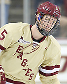 Michael Matheson (BC - 5) - The Boston College Eagles defeated the visiting Northeastern University Huskies 3-0 after a banner-raising ceremony for BC's 2012 national championship on Saturday, October 20, 2012, at Kelley Rink in Conte Forum in Chestnut Hill, Massachusetts.