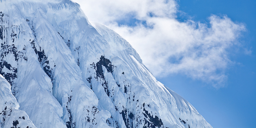 Mountain peaks in Antarctica