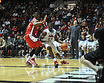 "Ole Miss' Reginald Buckner (23) vs. Rutgers' Kadeem Jack (22) at the C.M. ""Tad"" Smith Coliseum in Oxford, Miss. on Saturday, December 1, 2012. Mississippi won 80-67. (AP Photo/Oxford Eagle, Bruce Newman).."