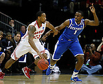 Darius Miller guards David Lighty in the Sweet 16 of the 2011 NCAA Basketball Tournament, at the Prudential Center, in Newark, NJ, on Saturday, March 25, 2011.  Photo by Latara Appleby | Staff