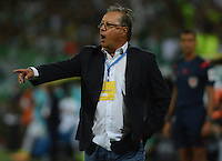 MEDELLIN-COLOMBIA- 12-02-2017.Nestor Otero director técnico de  Rionegro durnte su encuentro contra Atlético Nacional  durante encuentro  por la fecha 3 de la Liga Aguila I 2017 disputado en el estadio Atanasio Girardot./  Nestor Otero coach   of     Rionegro during match against of Atletico Nacional during match for the date 3 of the Aguila League I 2017 played at Atanasio Girardot stadium . Photo:VizzorImage / León Monsalve / Contribuidor