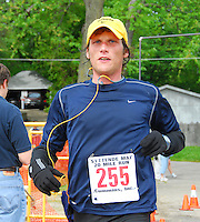Athletes compete in the Syttende Mai run on Saturday in Stoughton, Wisconsin