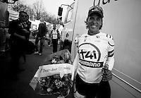 Dwars door Vlaanderen 2012.Koen de Kort backstage