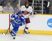 Evan Giesler (AFA - 15), Jacob Olson (Harvard - 26) - The Harvard University Crimson defeated the Air Force Academy Falcons 3-2 in the NCAA East Regional final on Saturday, March 25, 2017, at the Dunkin' Donuts Center in Providence, Rhode Island.