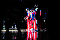 The Washington Wizard players are introduced prior to tip-off against the Boston Celtics at the Verizon Center in Washington, D.C. on Saturday, November 3, 2012.  Alan P. Santos/DC Sports Box