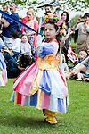 Donna Maria's Maypole Extravaganza. May Day Fair in Lloyds Park, Walthamstow, London E17, UK (6 May 2013)