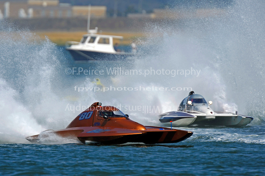 "Howie Schnabolk, S-80 ""On The Edge"" (2.5 Litre Stock hydroplane(s) and Bobby Kennedy,S-88 ""Playin Again"""