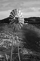 A windmill stands near the hills of Oakville in Napa County in Northern California.