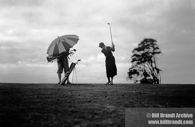 Golf in the rain 1934