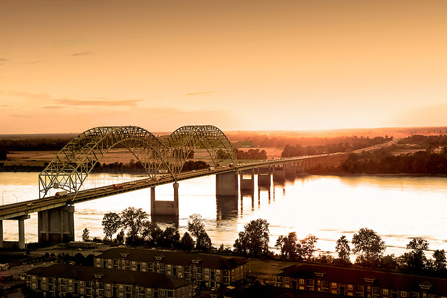Memphis, Tennessee, Mississippi River, Hernand De Soto Bridge, Connection Between Memphis And Arkansas, Interstate 40