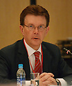 February 24, 2012, Tokyo, Japan - Lars-Erik Holm, director general of the Swedish Radiation Protection Authority, speaks during a Tokyo meeting held by the government-appointed Investigation and Verification Committee for the accident at Fukushima No. 1 power plant on Friday, February 24, 2012. Holm was one of the overseas experts invited to attend the meeting to help the panel review its interim report released in late December. The panel, chaird by Yotaro Hatamura, a professor emeritus at the University of Tokyo and an expert in the mechanism of failures, plans to compile its final report and hopes to end its probe by the end of July. (Photo by Natsuki Sakai/AFLO) AYF -mis-
