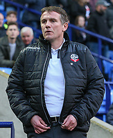 Bolton Wanderers manager Phil Parkinson <br /> <br /> Photographer Alex Dodd/CameraSport<br /> <br /> The EFL Sky Bet League One - Bolton Wanderers v Bury - Tuesday 18th April 2017 - Macron Stadium - Bolton<br /> <br /> World Copyright &copy; 2017 CameraSport. All rights reserved. 43 Linden Ave. Countesthorpe. Leicester. England. LE8 5PG - Tel: +44 (0) 116 277 4147 - admin@camerasport.com - www.camerasport.com