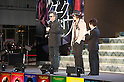 "April 12, 2012, Tokyo, Japan - Johnny Depp and Tim Burton answer the questions of their fans at Roppongi Hills for the Japan Premier of ""Dark Shadows"". ""Dark Shadows"" starts showing in Japan on May 19, 2012.."