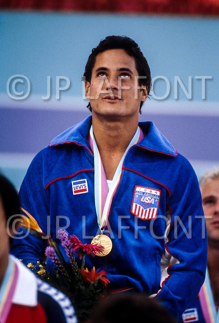 08 Aug 1984 --- Original caption: Greg Louganis of the USA who won the diving gold medal. --- Image by © JP Laffont