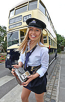 """***NO REPRODUCTION FEE***25/05/14 Conductor Jane Kendlin from Clontarf pictured with a 1961 CIE Leyland PD3 double decker at the announcement of the inaugural Dublin """"Vintage Port"""" Rally which will take place on Sunday 28th September 2014. Veteran, Vintage and Classic private and commercial vehicles from all over Ireland will gather at Dublin Port for this major event, further details of which are available at www.dublinportrally.com Picture Colin Keegan, Collins Dublin. ***NO REPRODUCTION FEE**"""