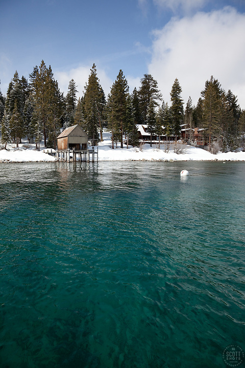 """Boat Dock on Lake Tahoe 3""- This old boat dock was photographed on the west shore of Lake Tahoe, CA."