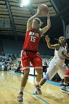 28 November 2012: Ohio State's Aleksandra Dobranic (SRB). The University of North Carolina Tar Heels played the Ohio State University Buckeyes at Carmichael Arena in Chapel Hill, North Carolina in an NCAA Division I Women's Basketball game. UNC won the game 57-54.