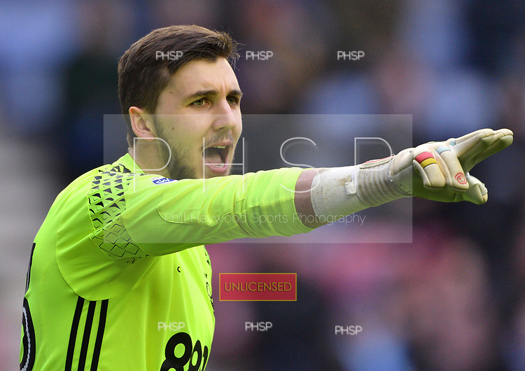 25/02/2017 Sky Bet Championship Wigan Athletic v Nottingham Forest<br /> <br /> Jordan Smith, Wigan Athletic FC